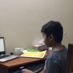 Nuren doing his remote learning from Bangladesh