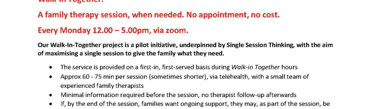 Family Therapy Sessions with La Trobe University